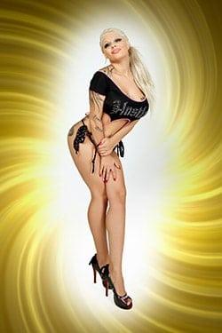 Stripperin für Dildoshow