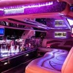 Pinke Limousine Innenausstattung