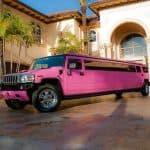 pinke Limousine für 12 Personen